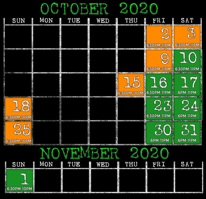 2020 Open Dates